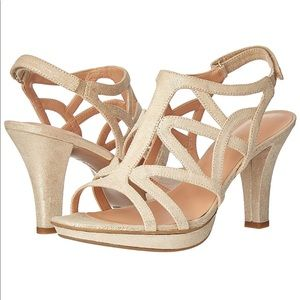 NATURALIZER Danya Caged Slingback Heel Sandals 10N